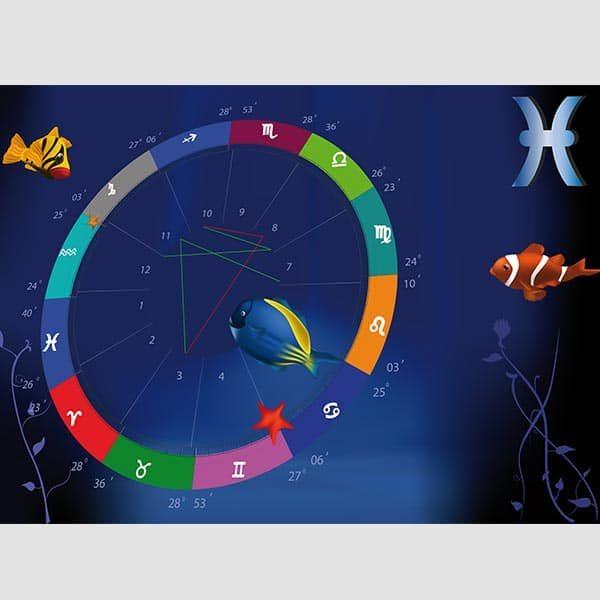Gibanje planetov, zvezde stalnice, arabske točke, središčne točke, stopinje zodiaka